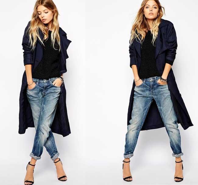 Модные джинсы бойфренды: особенности, с чем носить, кому идут фото 5