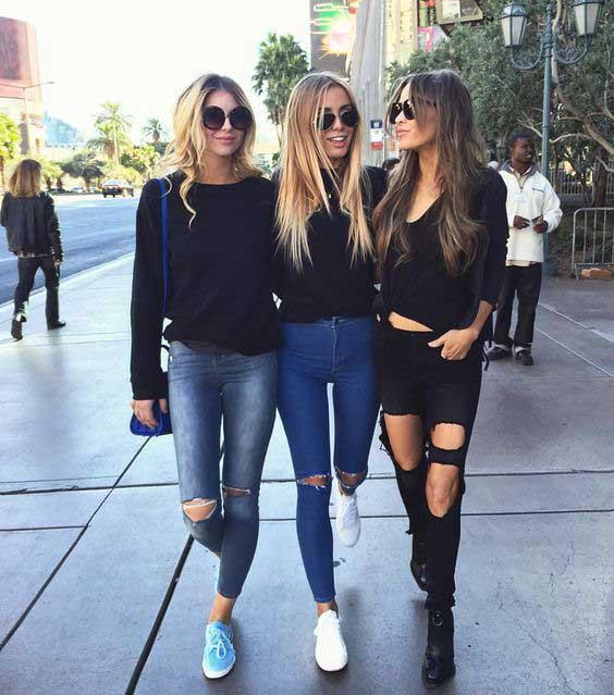 рваные джинсы и узкие скинни: тенденции, с чем носить