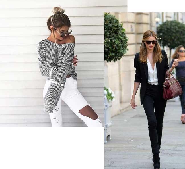 рваные джинсы и узкие скинни: тенденции, с чем носить фото 2
