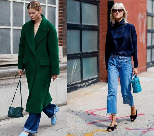 С чем носить расклешенные джинсы