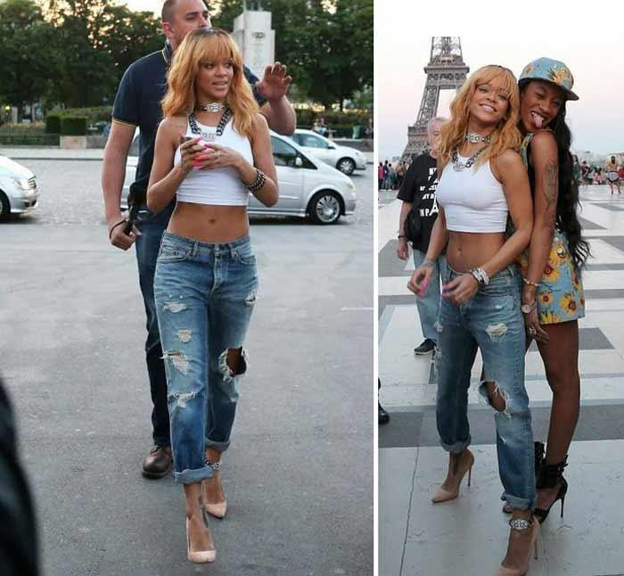 Rihanna в бойфрендах