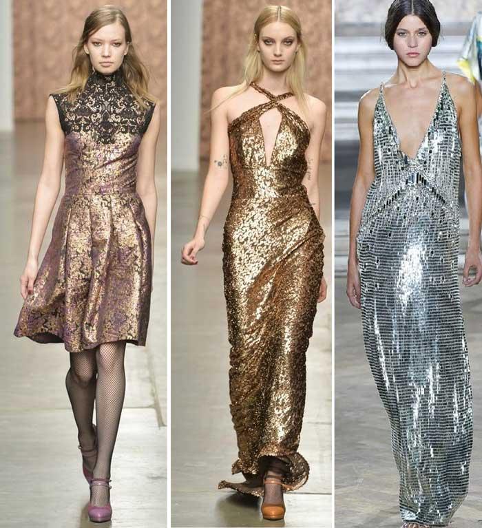 серебристые и золотистые модные цвета