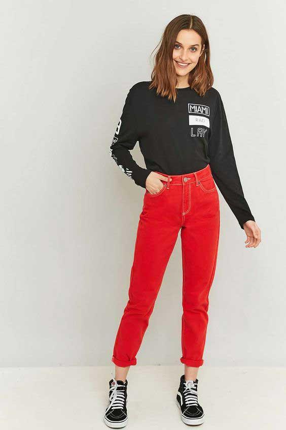 Красные джинсы и шитье