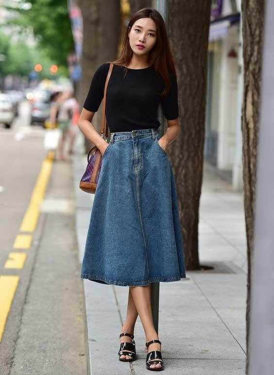С чем носить джинсовую юбку: стильные образы и решения фото