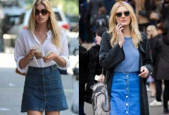 С чем носить джинсовую юбку: стильные образы и решения фото с мини