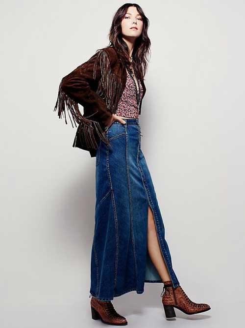 Для кантри образа достаточно надеть к джинсовой юбке