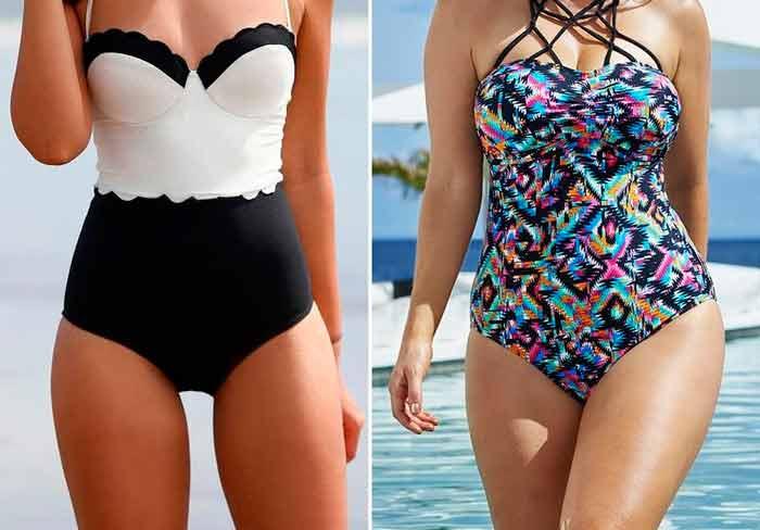 примеры купальников с коррекцией веса