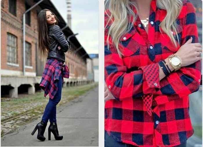 образ рубашка поверх джинс