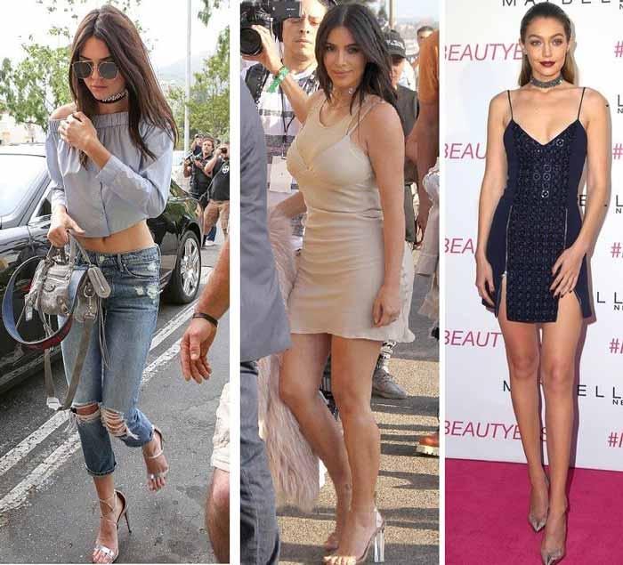 Kardashian украшения в виде колье на шеи