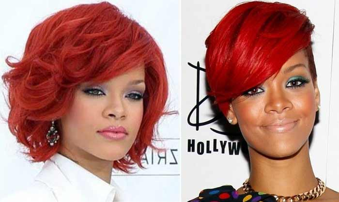Rihanna стрижка Bob