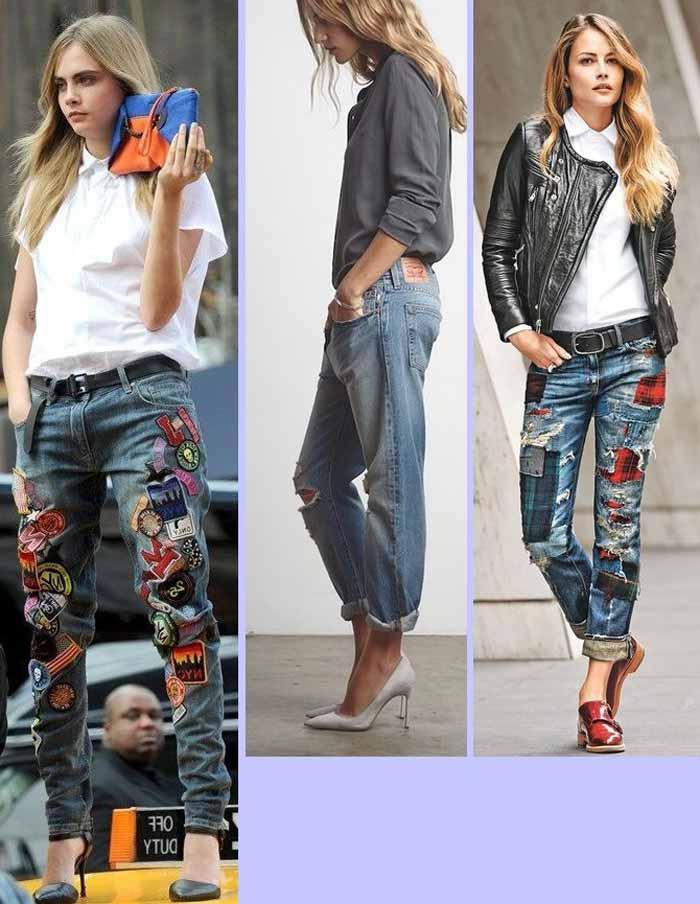 Образы с джинсами бойфренд средняя посадка