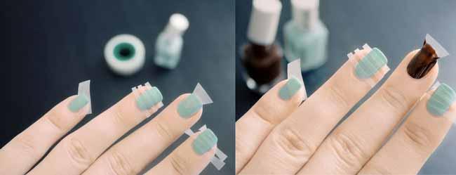 Как сделать треугольник на ногтях дома