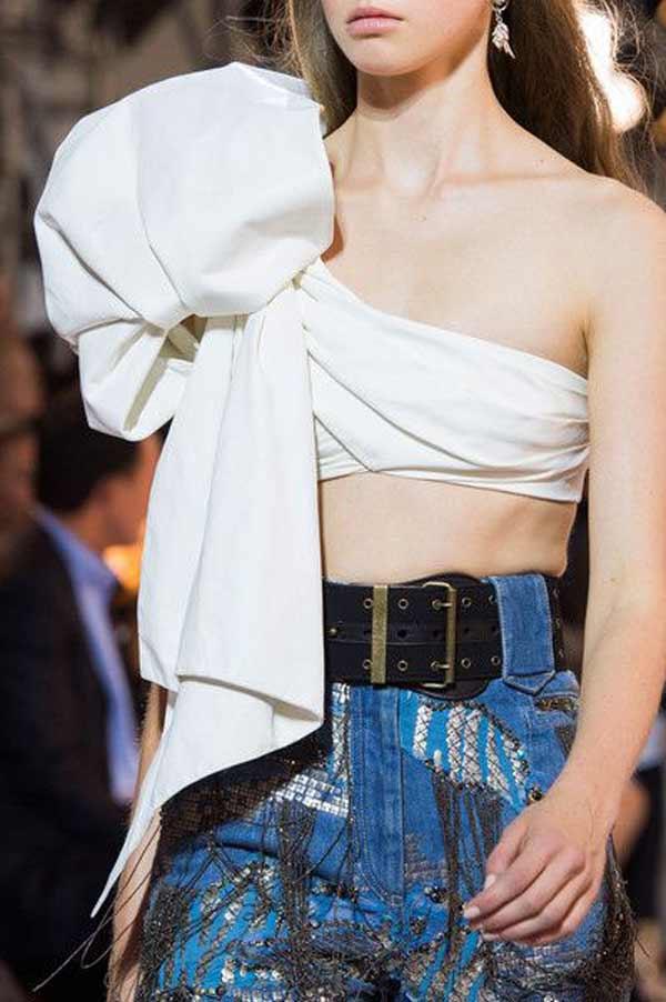 Roberto Cavalli 2016 вышивка крупным планом