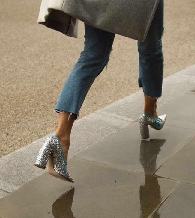 Летние туфли с укороченными джинсами