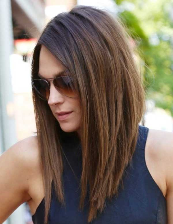 Косой пробор и натуральный цвет волос это тренд