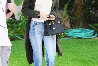 Двухцветные джинсы Кендалл