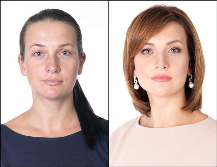 Девушка макияж преобразование