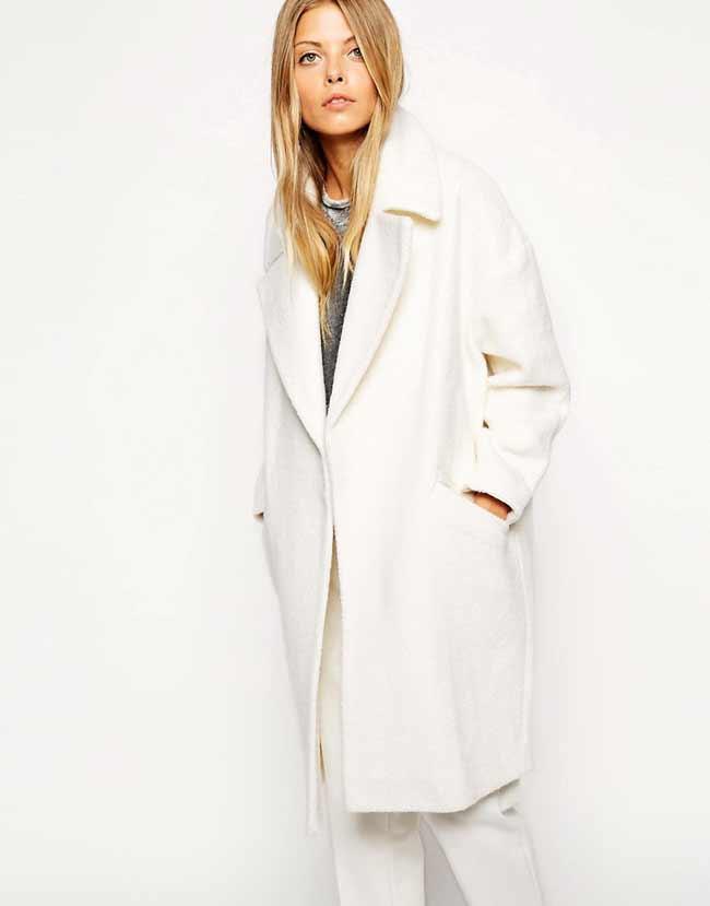 белое пальто-oversize зима