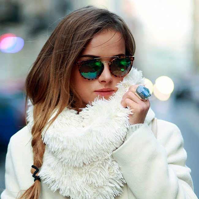 Белый цвет в гардеробе зимой