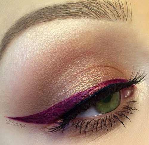 Зеленые глаза и фиолетовая подводка