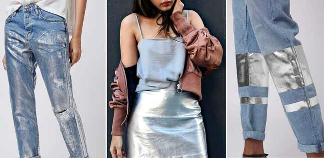 Металлизированные предметы гардероба