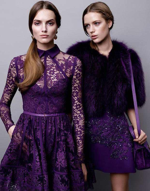 Фиолетовый цвет наряды