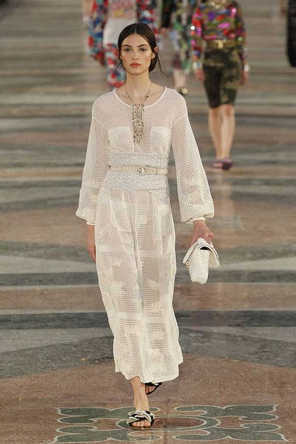 Chanel - кружевное платье