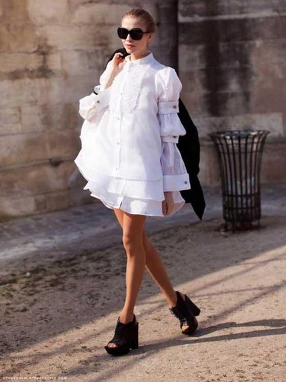 Белое, воздушное платье бэби-долл