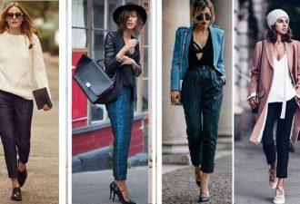 14 разных образа с укороченными брюками