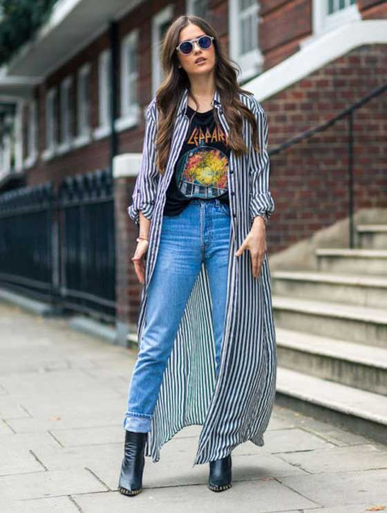 Джинсы в стиле грандж mom jeans