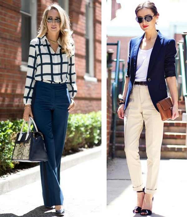 Бизнес леди и синий цвет