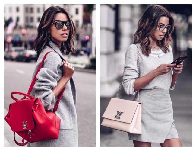 Роскошный серый: 10 идей от модницы сети Instagram