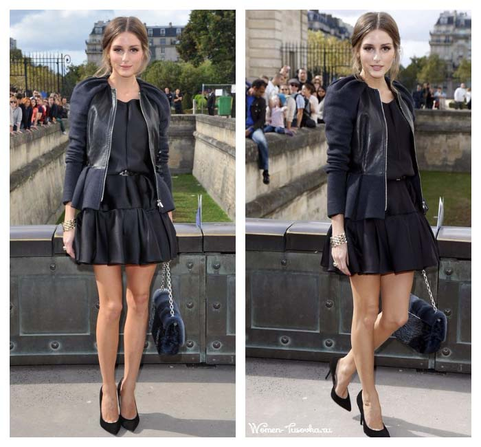 Оливия Палермо черное платье 2017