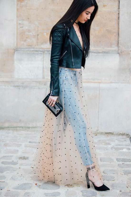 Платье, джинсы, косуха
