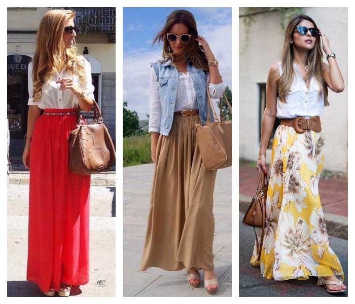 Кому идут и с чем носить длинную юбку: 18 свежих образов