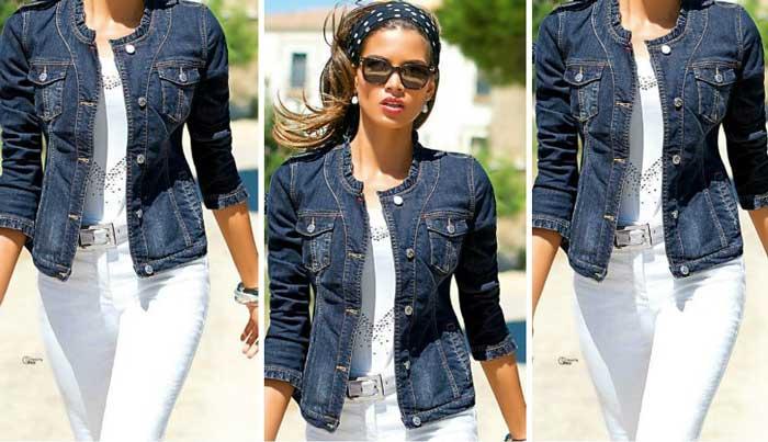 Белые джинсы молодежный повседневный образ