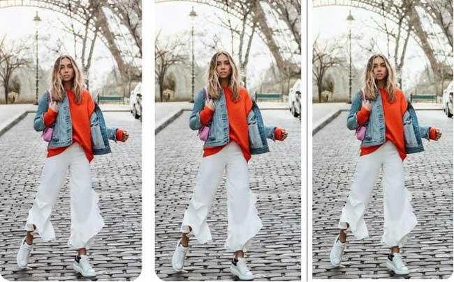 Укороченные широкие белые брюки