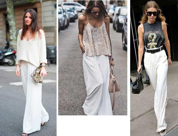 Модные белые брюки 2017