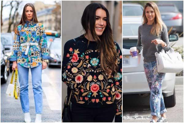 Будь в тренде: цветочная вышивка — на чем, с чем и как носить