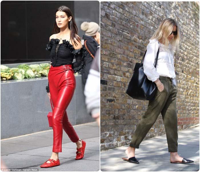 Кружевные блузки с модными брюками
