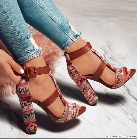 Обувь с принтом