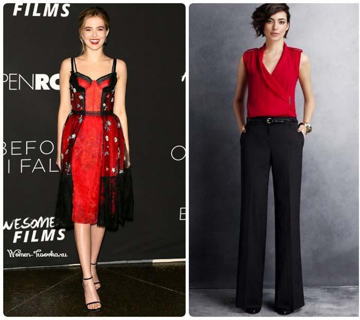 Роскошное сочетание красного и черного
