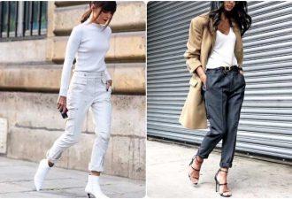 Создать стильный образ помогут брюки три четверти