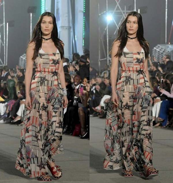 Геометрический принт -платье 2017