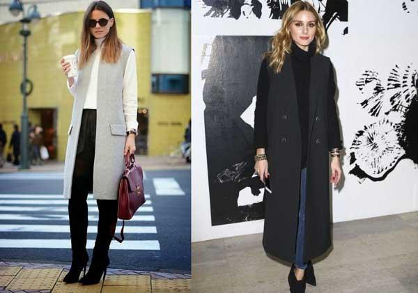Удлиненный жилет: 20 образов с модным предметом гардероба