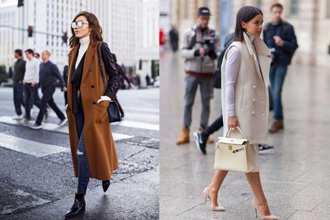 Удлиненный жилет: 20 образов с чем носить