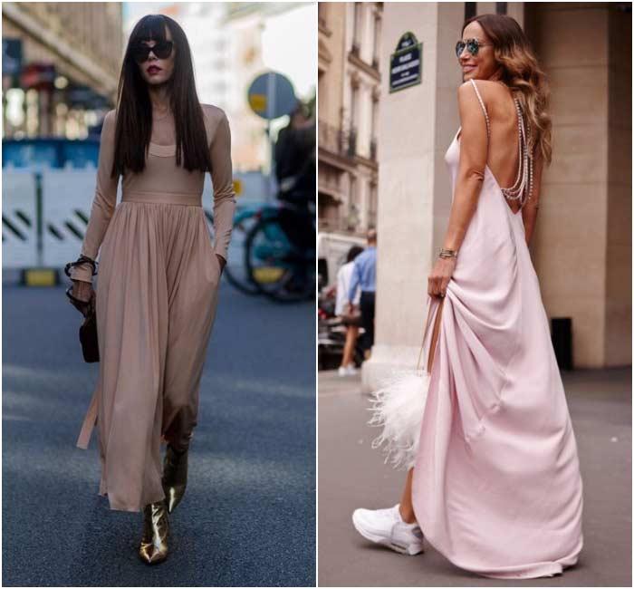Платья нюдового цвета