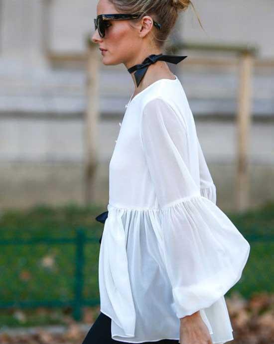 Белая блуза+чокер