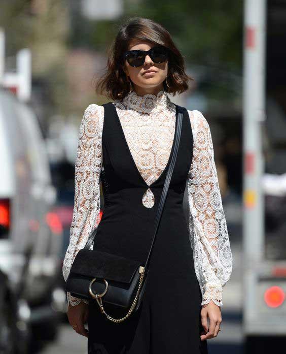 Блузка с комбинезоном
