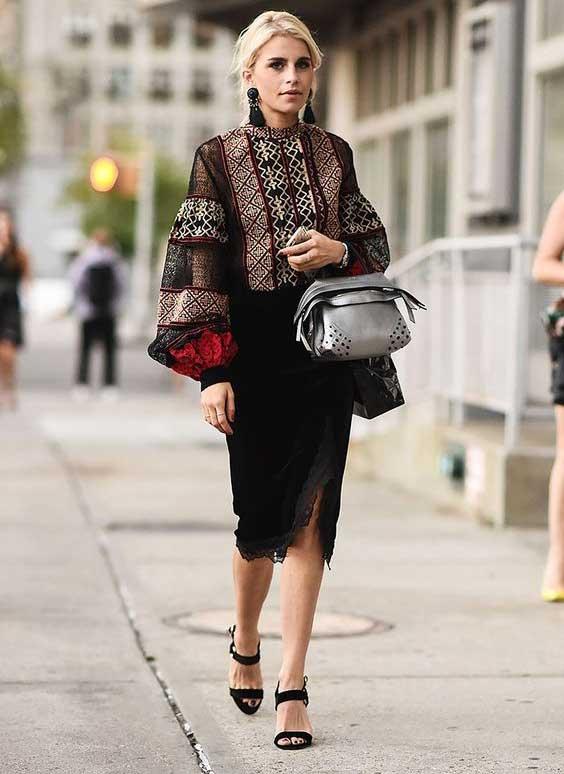 Блузка и юбка карандаш